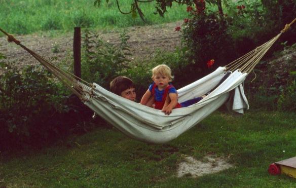 Matthew and Sam in hammock 8.81 1