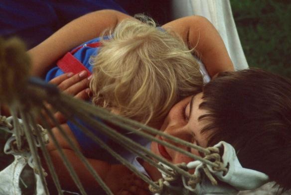Matthew and Sam in hammock 8.81 2