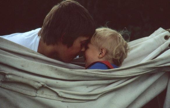 Matthew and Sam in hammock 8.81 3