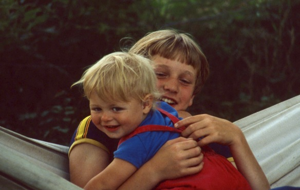 Sam and Adrian in hammock 8.81