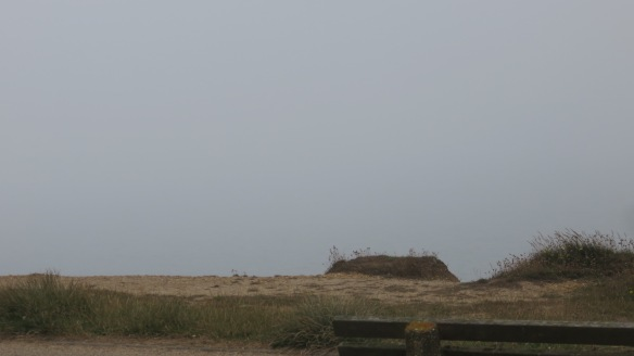Sea mist with invisible Isle of Wight