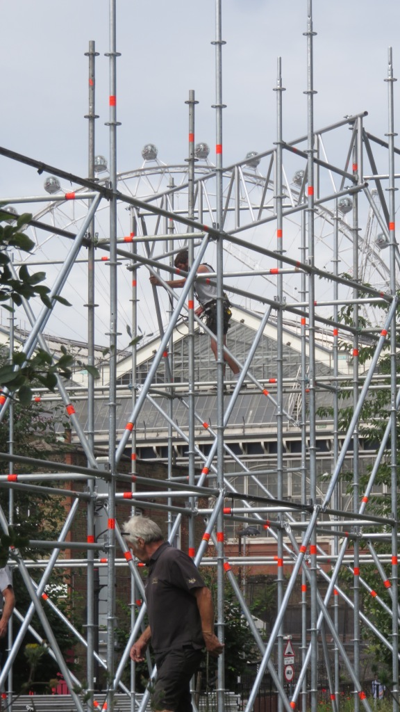 Scaffolding and London Eye 3