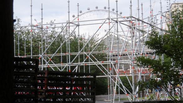 Scaffolding and London Eye 2
