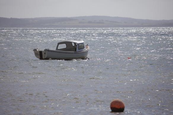 Boat and buoys