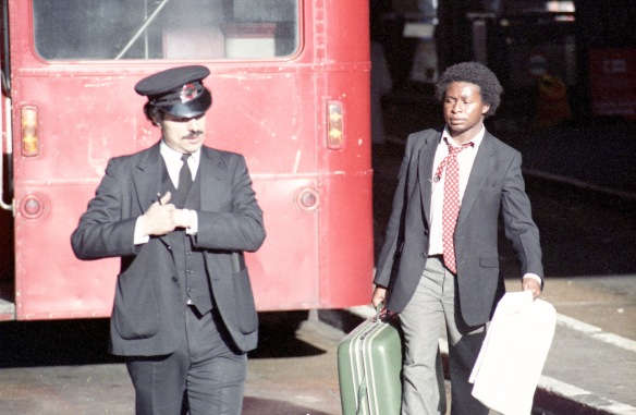 Bus Inspector and pedestrian 1984
