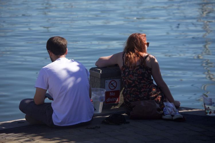 Couple on quayside
