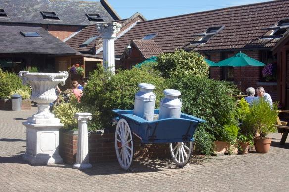 Milk cart and urn