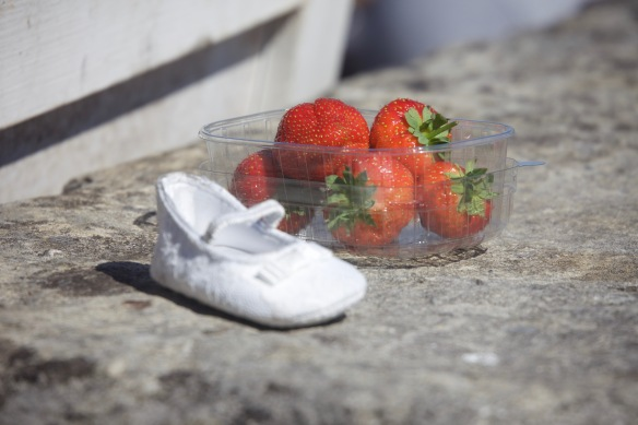 Strawberries and shoe 1