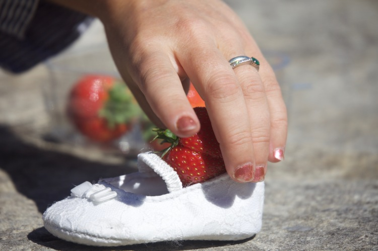 Strawberry in shoe 1