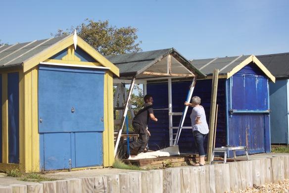 Beach hut refurbishment