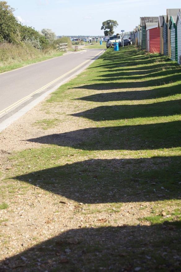 Beach Hut shadows