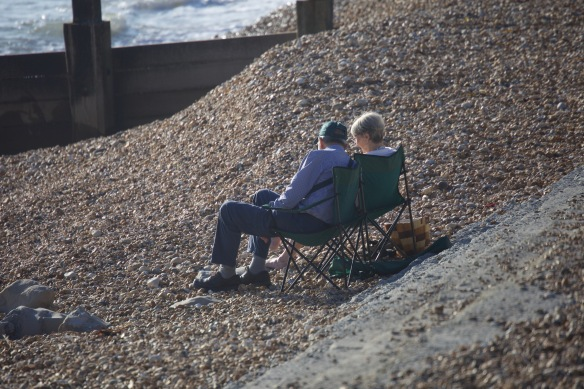 Couple on shingle