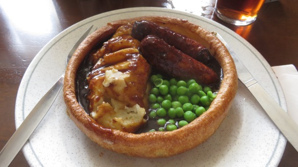 Filled Yorkshire pudding meal