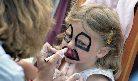 Louisa face painting 1985 2