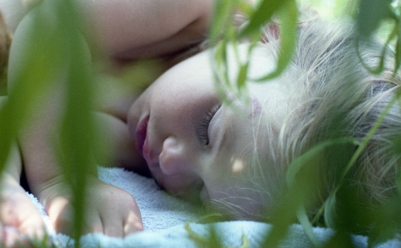 Louisa sleeping 1985 3