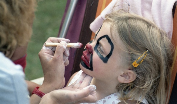Louisa face painting 1985 3