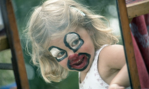 Louisa face painting 1985 5