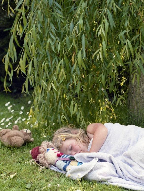 Louisa sleeping 1985 7