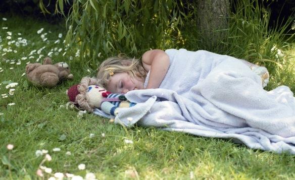 Louisa sleeping 1985 8