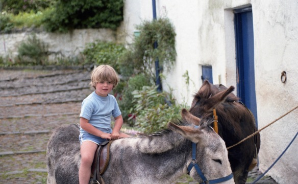 Sam on donkey 1985 1