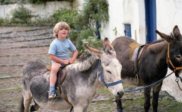 Sam on donkey 1985 2