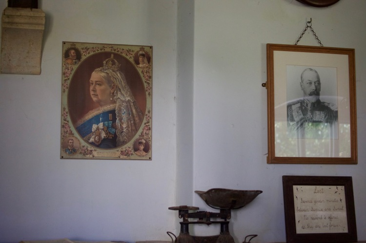 Sovereigns on wall