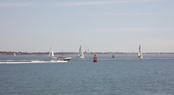 Speedboat, yachts, Spinnaker