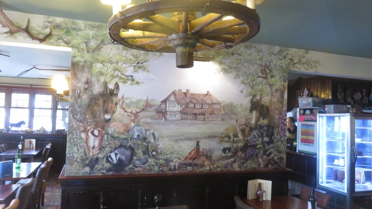 The Fighting Cocks mural