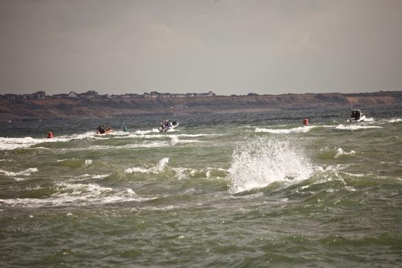 Boats, buoys, waves