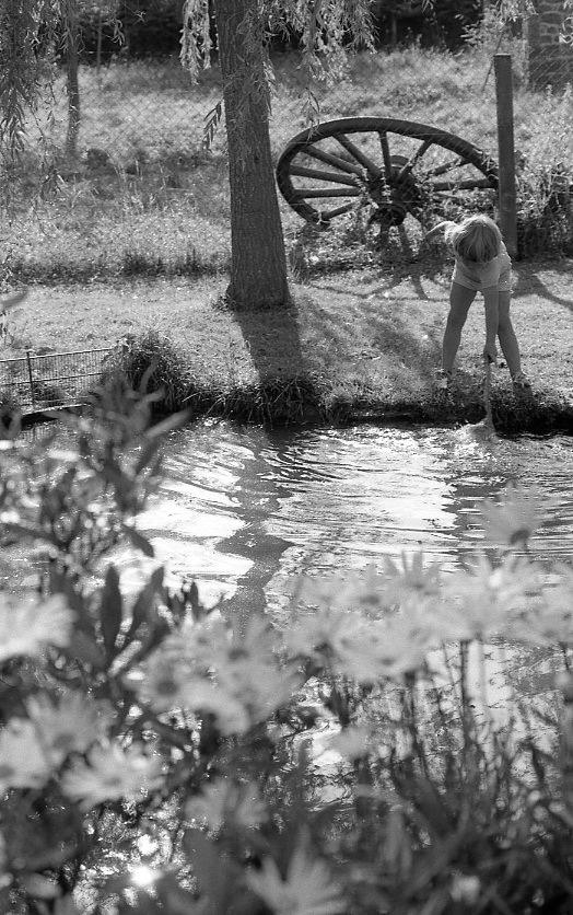 Sam stirring water 1985