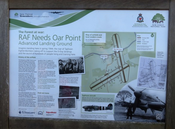 RAF Needs Oar Point sign