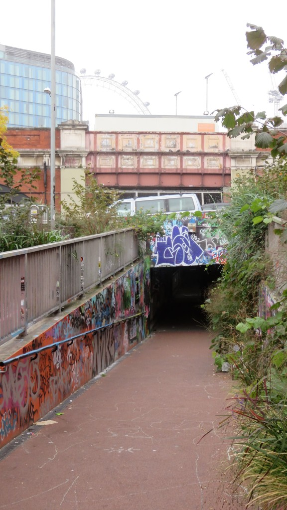 Graffiti on tunnel