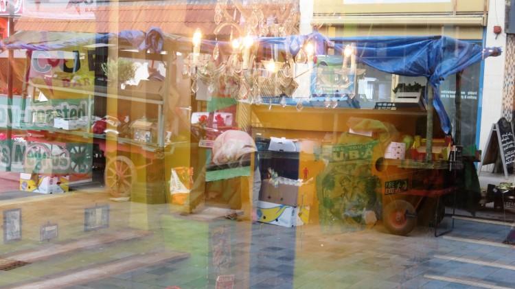 Cuban restaurant window