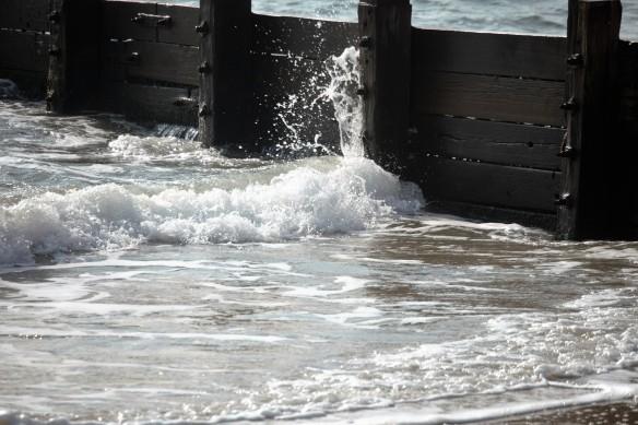 Spray on breakwater