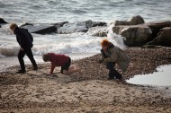 Group on beach