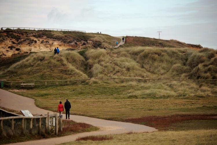Walkers on Hengistbury Head