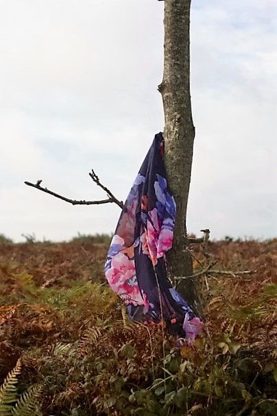 Scarf on tree