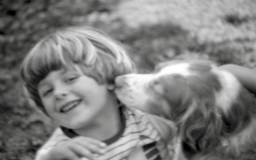 Sam and dog 1985