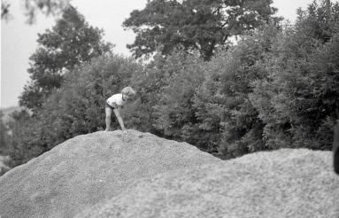 Sam on grit heap 1985