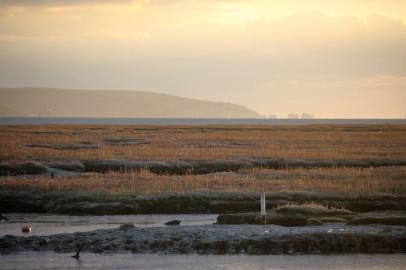 Isle of Wight, The Needles, salt flats