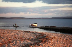 Boat off shore
