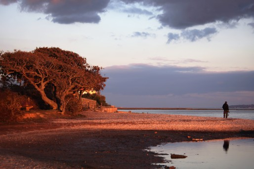 Photographer on shore