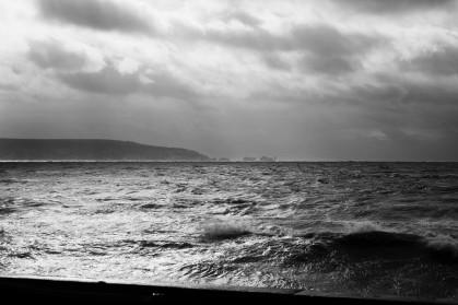 Clouds, sea, Isle of Wight