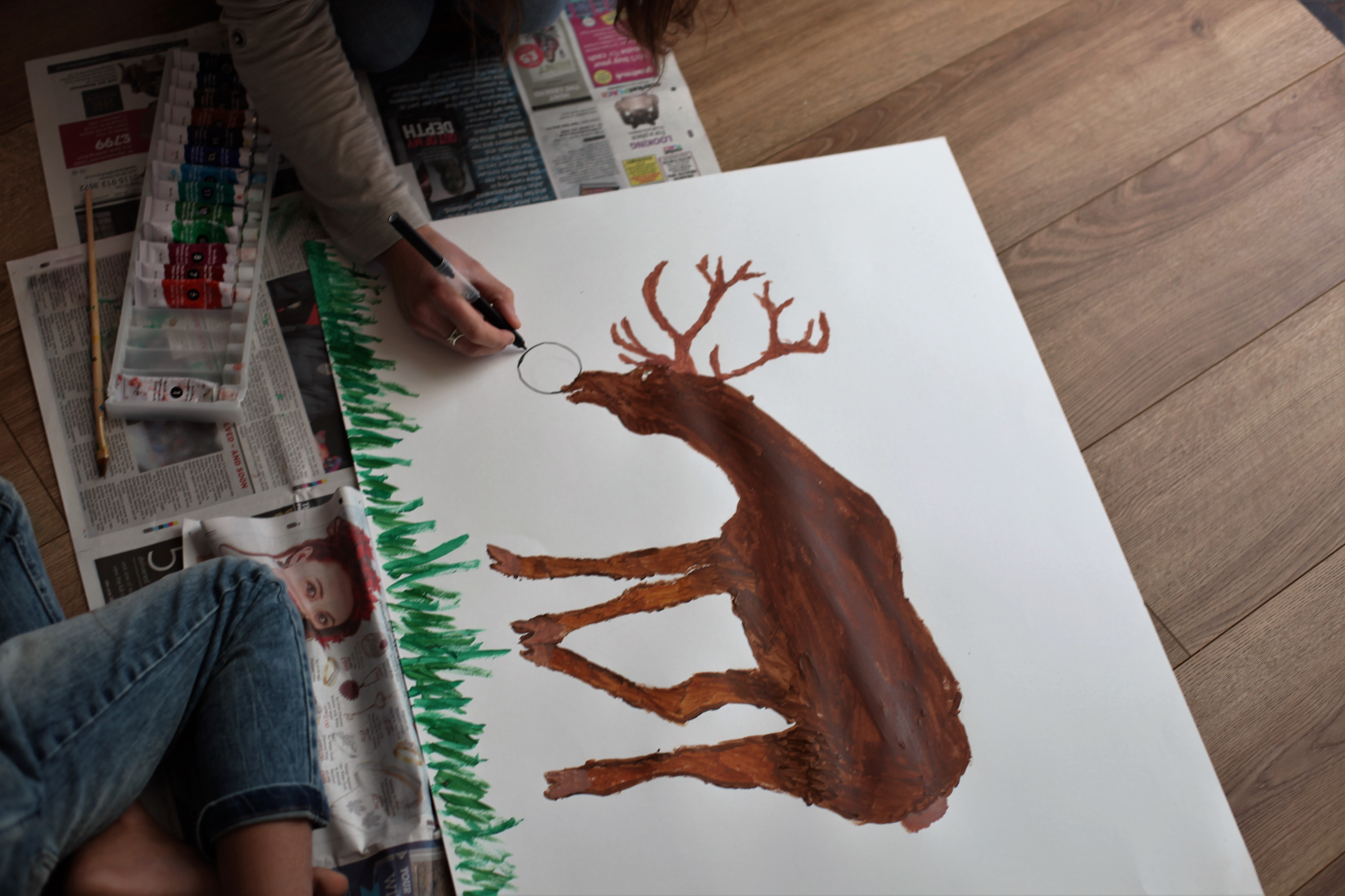 Painting Rudolph the Reindeer