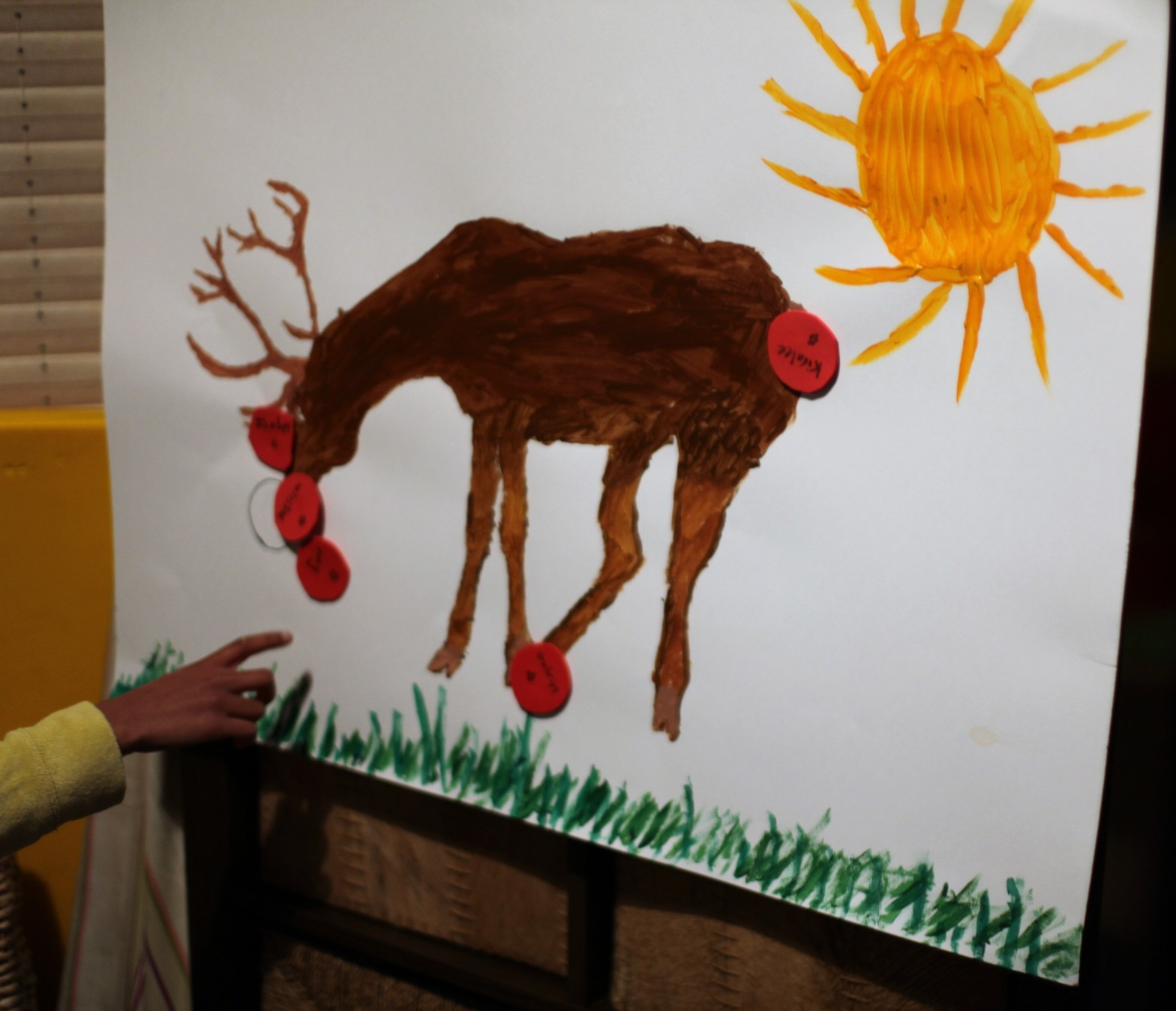 Pinning the nose on Rudolph