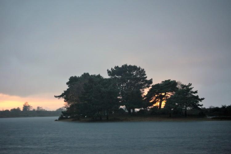 Sunset over Hatchet Pond