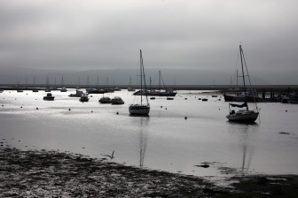 Keyhaven harbour with boats