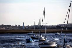Boats, Hurst Castle, lighthouse