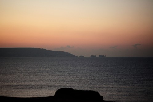 Dawn over The Isle of Wight