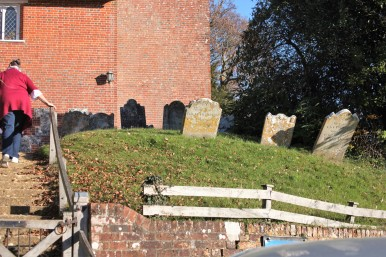 Gravestones and steps